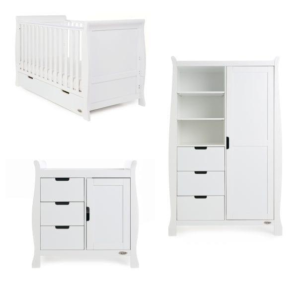 Stamford 3 Pc Nursery Set - White