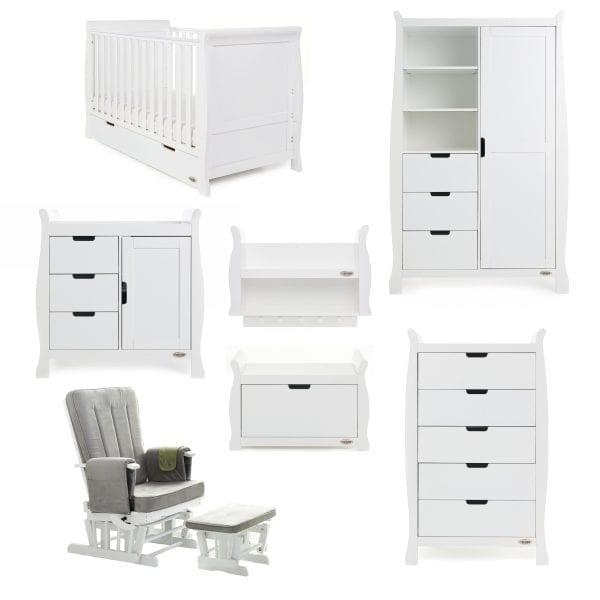 Stamford 7 Piece Nursery Set - White